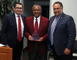 File photo: Dr. Bragg is recognized as  for his service as president of the Medicaid Medicare CHIP Services Dental Association