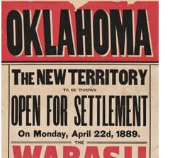 Oklahoma broadside 1889 Maps