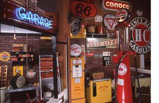 Neon Signs and Vintage gasoline pumps