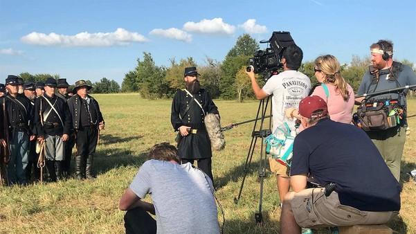 filming of the Honey Springs Battle