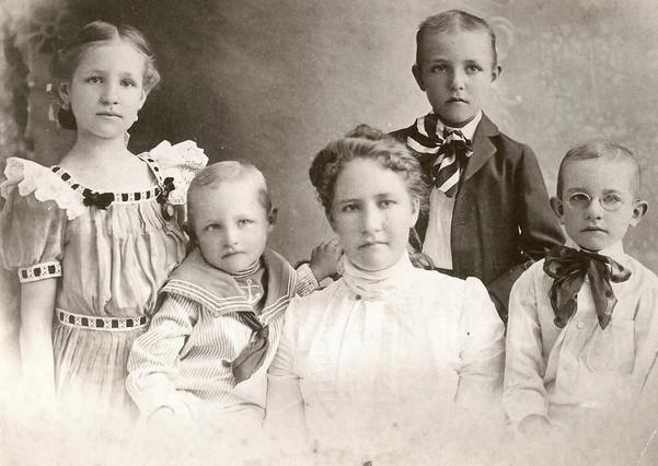Addie Drummond and her children