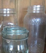 Glass canning jars