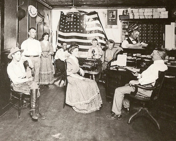 Drummond Family at the Hominy Trading Post