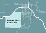 Pawnee Bill Ranch map