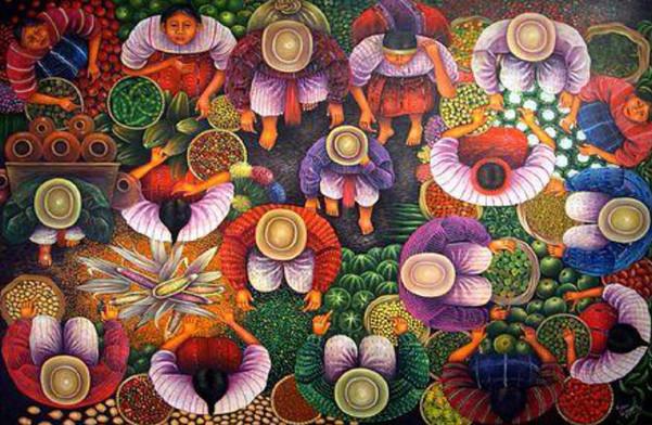 Hilario Efrain Xitamul Roquel painting