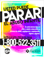 Child Abuse Poster en Espanol