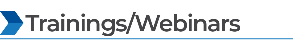 Trainings/Webinars