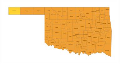 Oklahoma Risk Level System Map