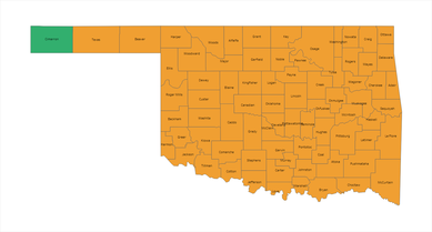 Oklahoma COVID Risk Level Map 01-20-2021