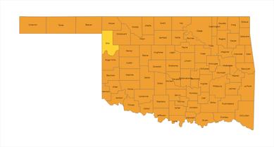 Oklahoma County Risk Level Map 2021-01-28