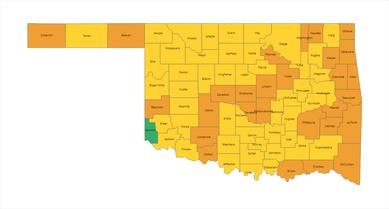 Oklahoma County Risk Levels 03-11-21