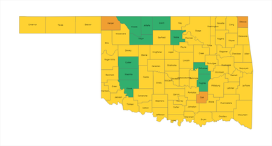 Oklahoma County Risk Level Map