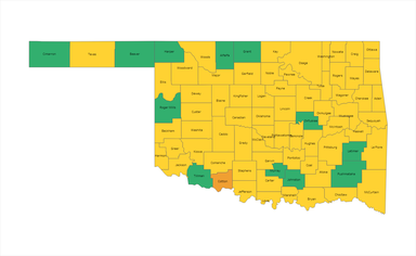 Weekly County Level Risk Map