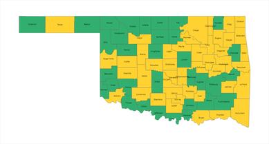 County Alert Map