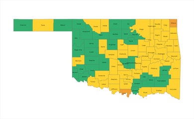 County Risk Level Map