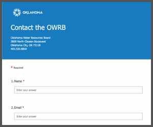 Web Contact Form with grey border
