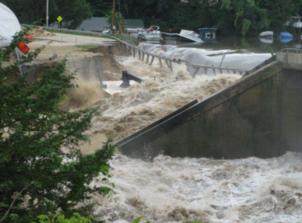 Lake Delhi Dam Failure