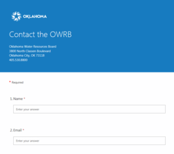 OWRB contact
