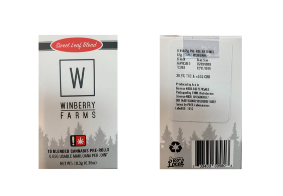 Winberry Farms Product Recall