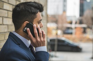 business man on cellphone