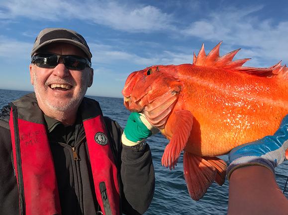 Angler and rockfish