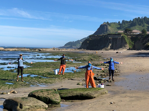 intertidal surveys, while practicing social distancing