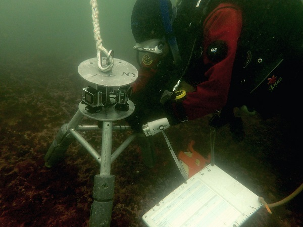 Video lander sitting on seafloor