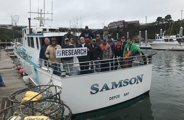 C/V Samson and volunteer anglers