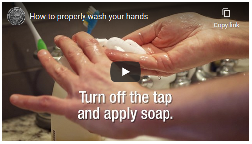 COVID-19 Video capture How to Wash Hands