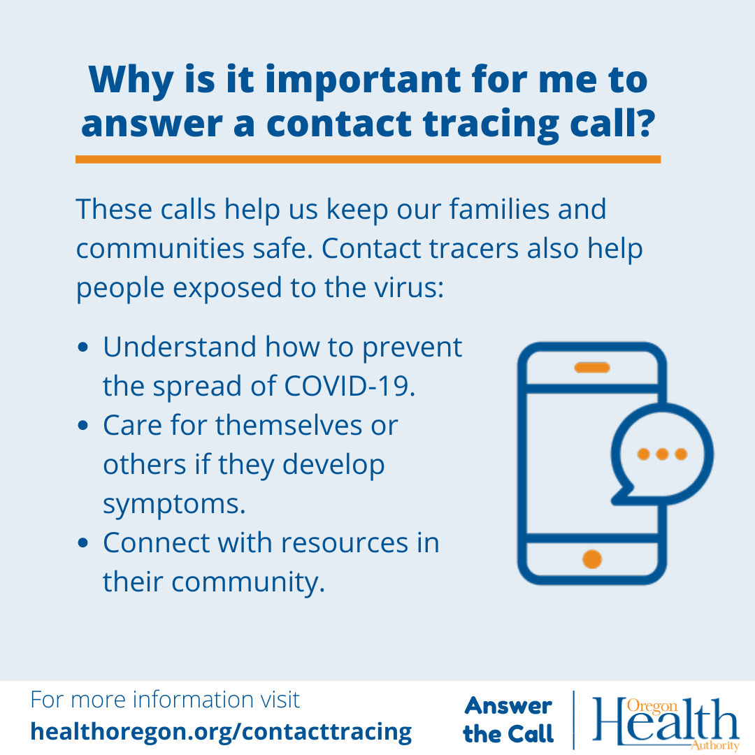 Why is it important for me to answer a contact tracing call