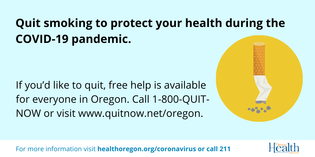 Quit smoking to protect your health during the COVID-19 pandemic