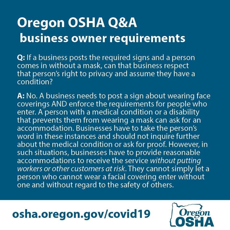 Oregon OSHA Q&A business owner requirements