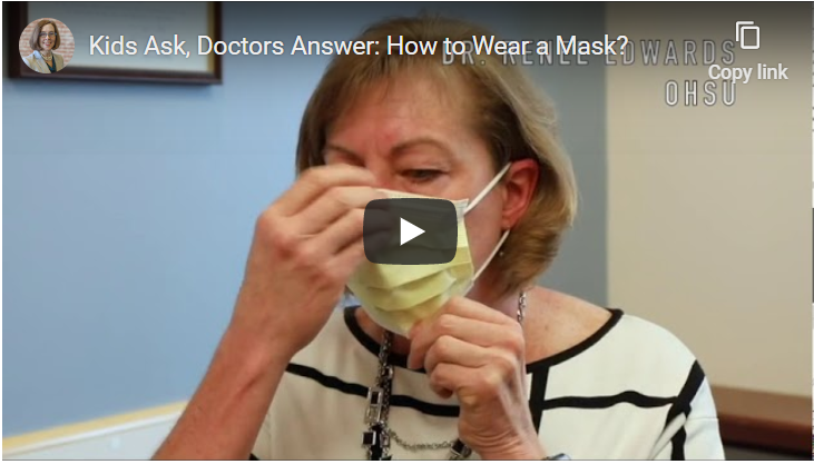 Kids Ask Doctors Answer How to Wear a Mask