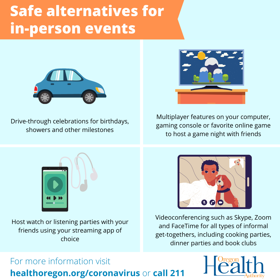 Safe alternatives for in-person events