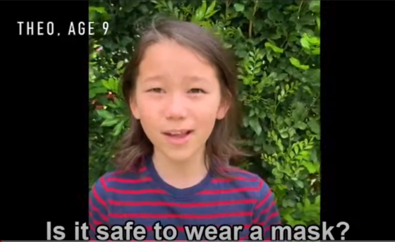 Kids ask is it safe to wear a mask?