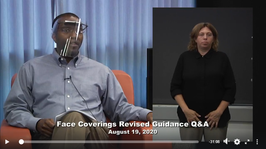 Facebook Live recap: Face coverings and businesses