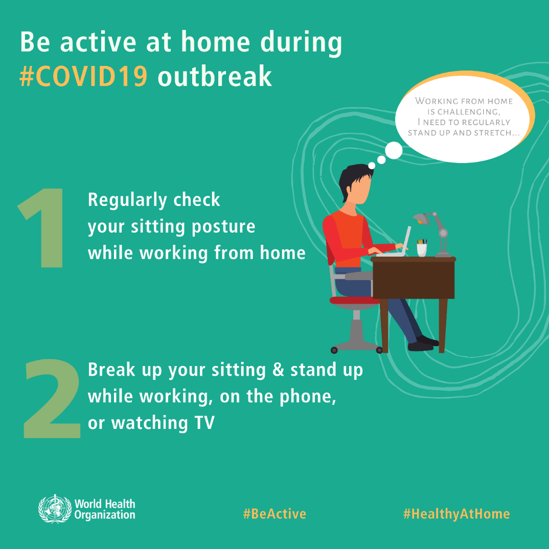 Be active at home during #COVID19 outbreak.