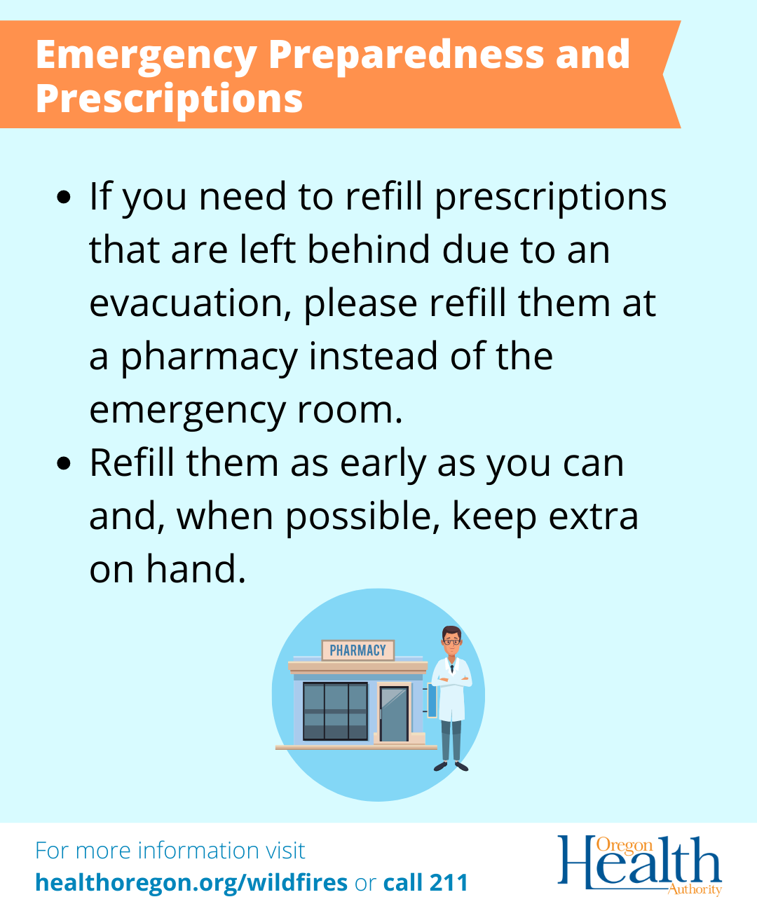 Emergency preparedness and prescriptions