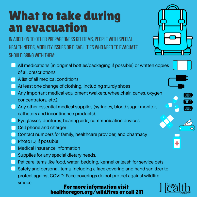 What to take during an evacuation