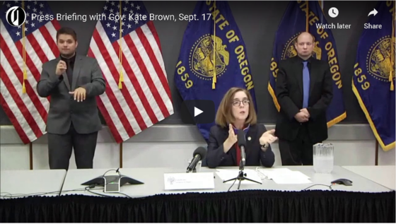 Press Briefing with Gov. Kate Brown Sept 17, 2020