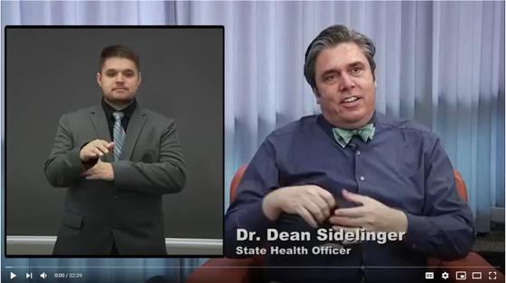 Dr. Dean Sidelinger at Facebook Live