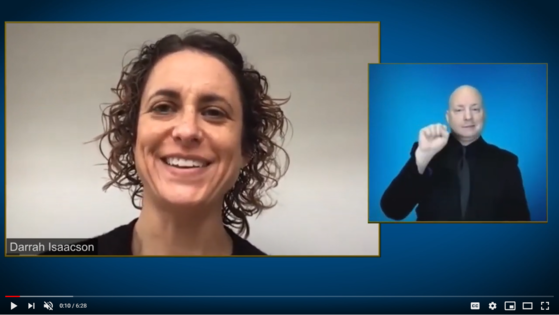 video to click on with darrah isaacson and embedded sign language interpreter