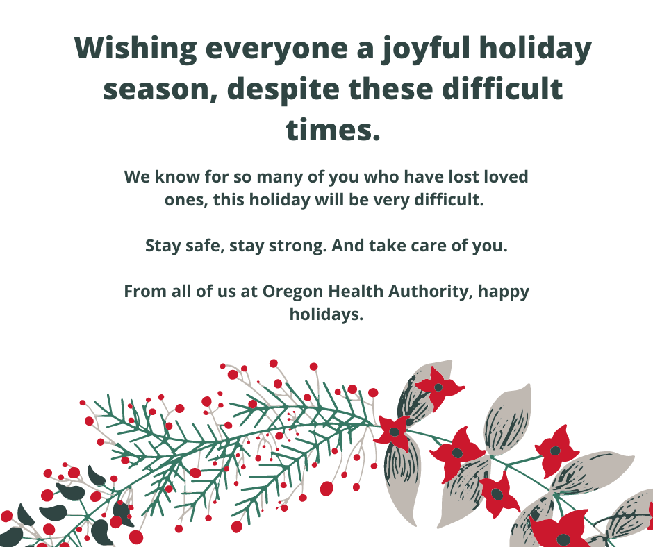 wishing everyone a joyful holiday season. We know for many who have lost loved ones this holiday will be difficult. Stay safe, stay strong. take care