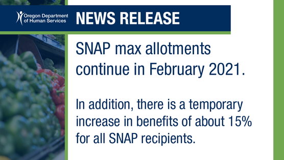 Graphic repeats details on SNAP benefits.