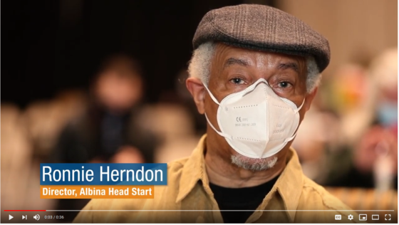 Ronnie Herndon with mask