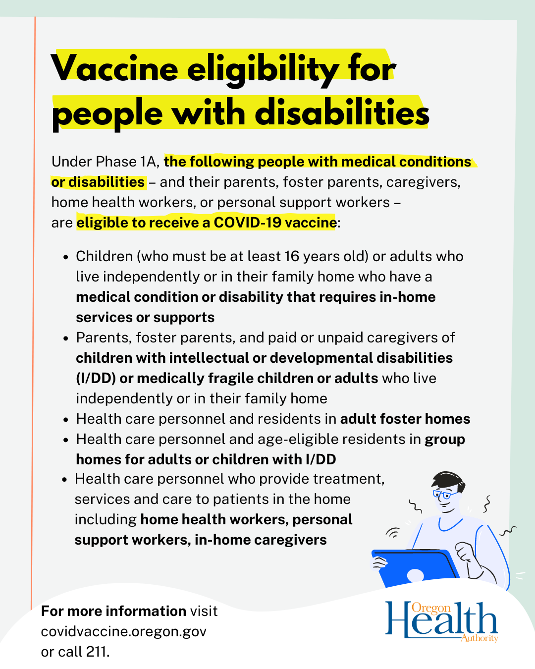 vaccine eligibility for people with disabilities