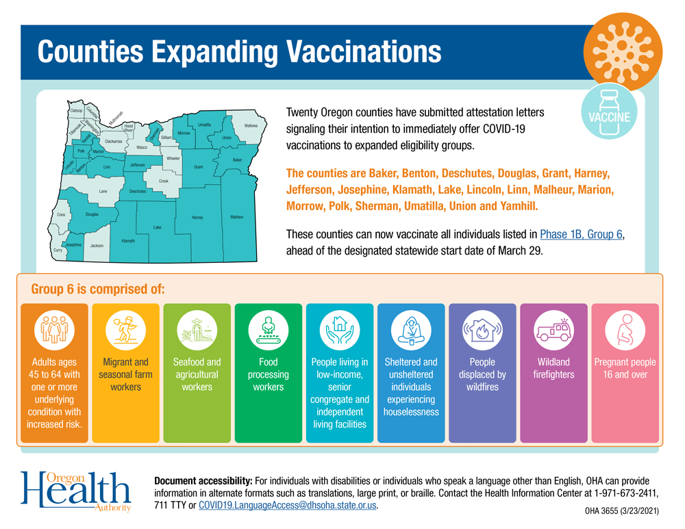 Counties Expanding Vaccinations