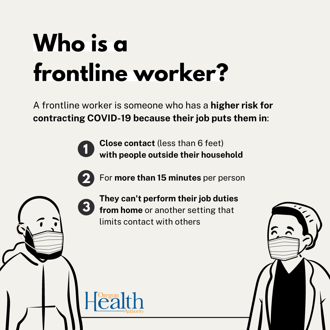 Frontline worker social graphic