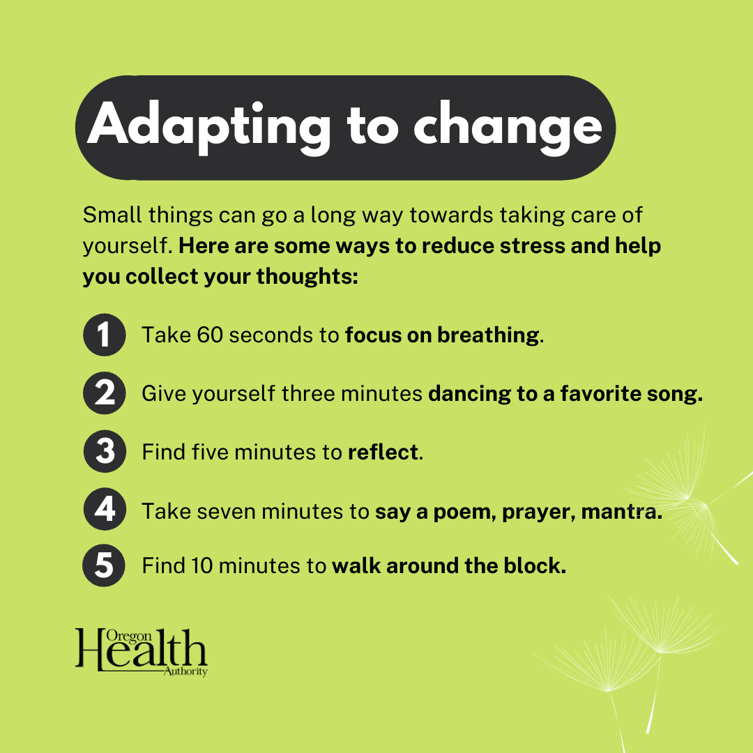 List of adapting to change inclued in article.