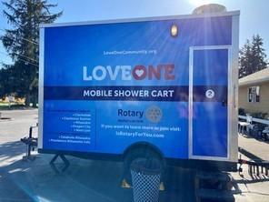 LoveOne Mobile Shower Cart